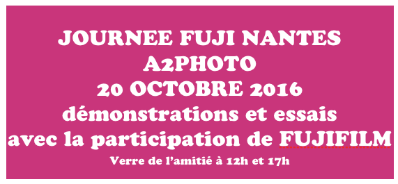 L'Expert Fujifilm le 20 octobre chez A2photo